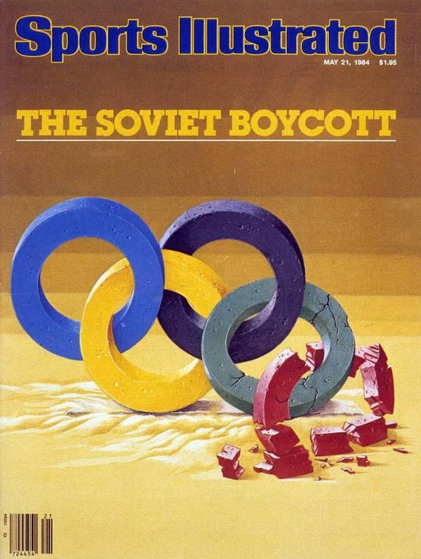 Magazine Cover Art Print featuring the photograph The Soviet Unions Boycott Of Los Angeles Olympics Sports Illustrated Cover by Sports Illustrated