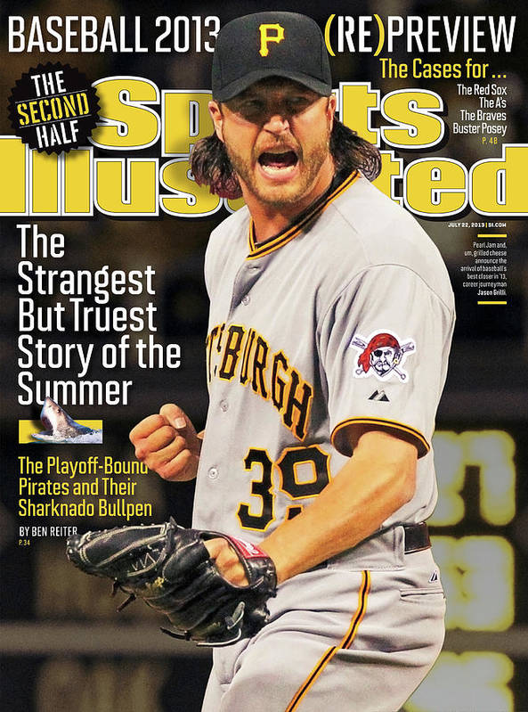 Magazine Cover Art Print featuring the photograph The Strangest But Truest Story Of The Summer Baseball 2013 Sports Illustrated Cover by Sports Illustrated