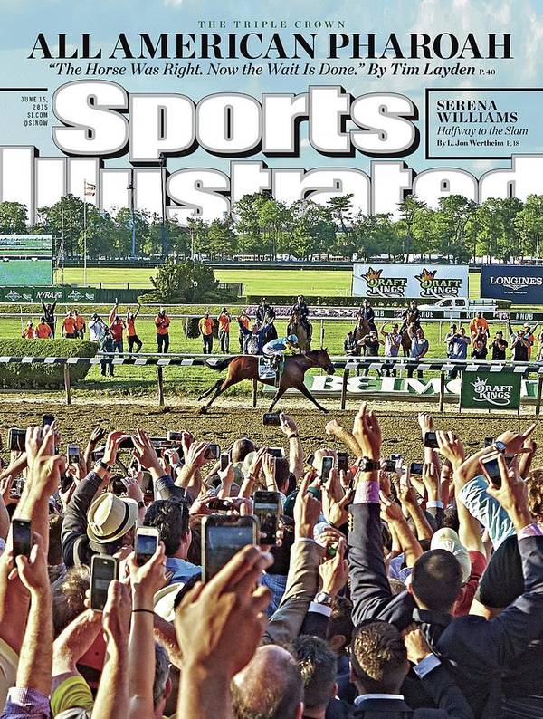 Magazine Cover Art Print featuring the photograph The Triple Crown All American Pharoah Sports Illustrated Cover by Sports Illustrated