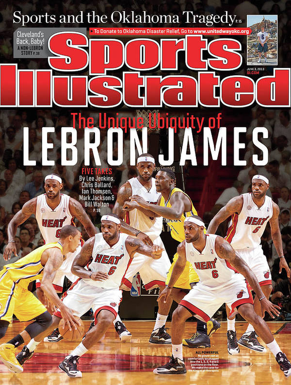 Magazine Cover Art Print featuring the photograph The Unique Ubiquity Of LeBron James Sports Illustrated Cover by Sports Illustrated