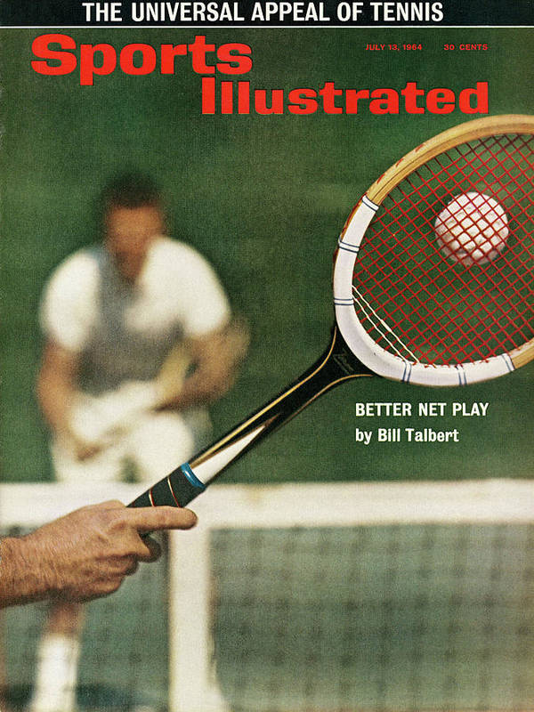 Magazine Cover Art Print featuring the photograph The Universal Appeal Of Tennis Better Net Play By Bill Sports Illustrated Cover by Sports Illustrated