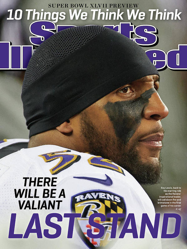 Magazine Cover Art Print featuring the photograph There Will Be A Valiant Last Stand Super Bowl Xlvii Preview Sports Illustrated Cover by Sports Illustrated