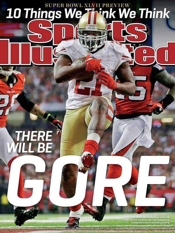 Atlanta Art Print featuring the photograph There Will Be Gore Super Bowl Xlvii Preview Issue Sports Illustrated Cover by Sports Illustrated