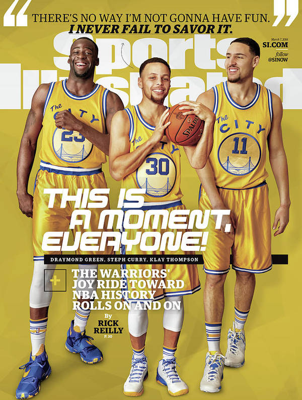 Point Guard Art Print featuring the photograph This Is A Moment, Everyone The Warriors Joy Ride Toward Nba Sports Illustrated Cover by Sports Illustrated