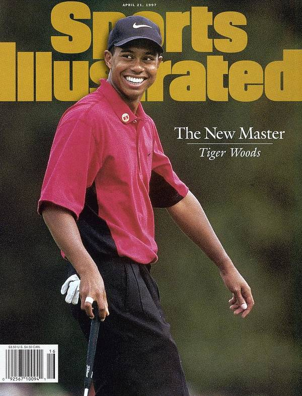 Magazine Cover Art Print featuring the photograph Tiger Woods, 1997 Masters Sports Illustrated Cover by Sports Illustrated