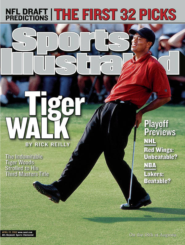 Magazine Cover Art Print featuring the photograph Tiger Woods, 2002 Masters Sports Illustrated Cover by Sports Illustrated