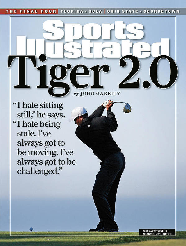 Magazine Cover Art Print featuring the photograph Tiger Woods, 2007 Buick Invitational Practice Round Sports Illustrated Cover by Sports Illustrated