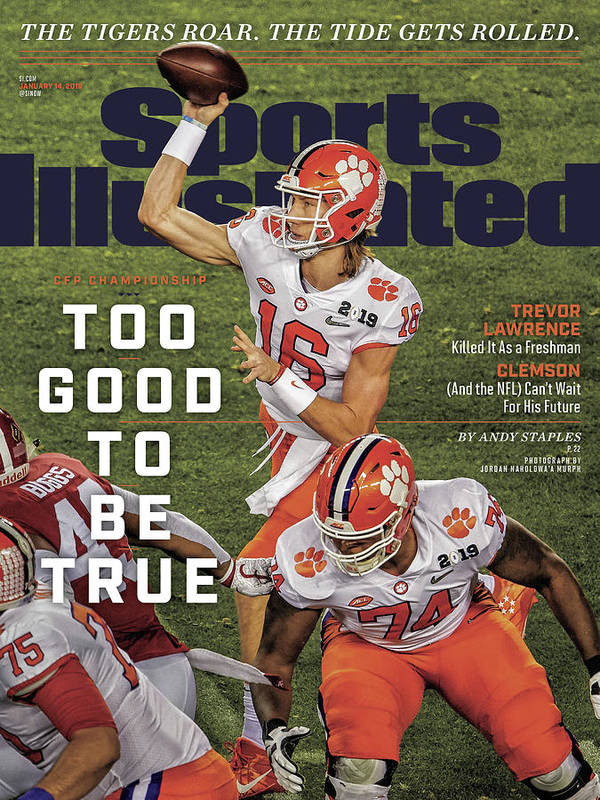 Magazine Cover Art Print featuring the photograph Too Good To Be True Trevor Lawrence Killed It As A Sports Illustrated Cover by Sports Illustrated