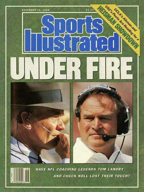 Magazine Cover Art Print featuring the photograph Under Fire Have Nfl Coaching Legends Tom Landry And Chuck Sports Illustrated Cover by Sports Illustrated