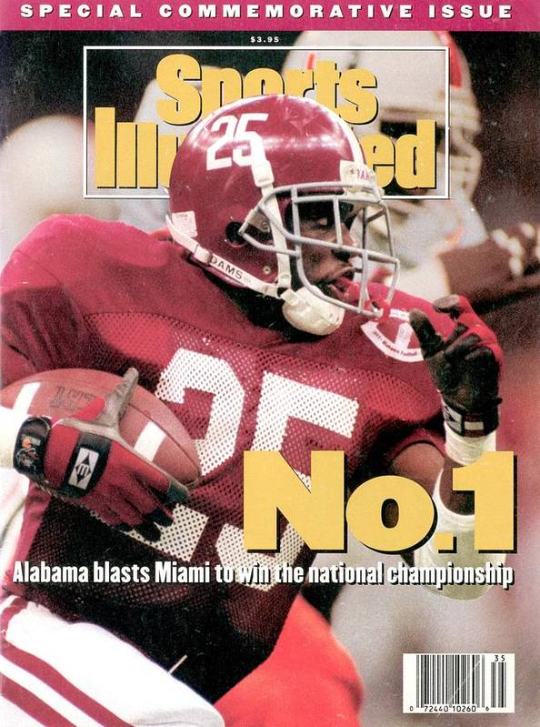 Magazine Cover Art Print featuring the photograph University Of Alabama Derrick Lassic, 1993 Usf&g Financial Sports Illustrated Cover by Sports Illustrated