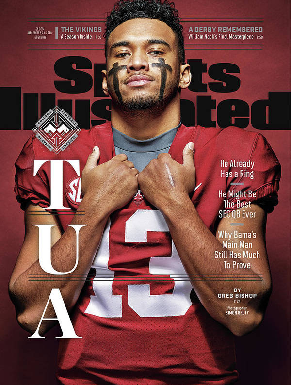 Magazine Cover Art Print featuring the photograph University Of Alabama Qb Tua Tagovailoa, 2018 College Sports Illustrated Cover by Sports Illustrated