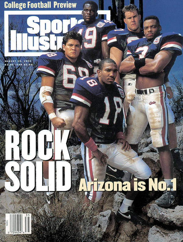 Season Art Print featuring the photograph University Of Arizona, 1994 College Football Preview Issue Sports Illustrated Cover by Sports Illustrated