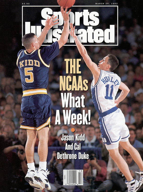 Playoffs Art Print featuring the photograph University Of California Jason Kidd, 1993 Ncaa Midwest Sports Illustrated Cover by Sports Illustrated