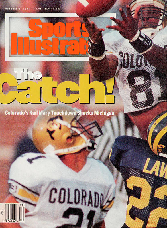Magazine Cover Art Print featuring the photograph University Of Colorado Michael Westbrook Sports Illustrated Cover by Sports Illustrated