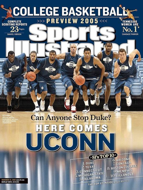 Sports Illustrated Art Print featuring the photograph University Of Connecticut Basketball Team Sports Illustrated Cover by Sports Illustrated