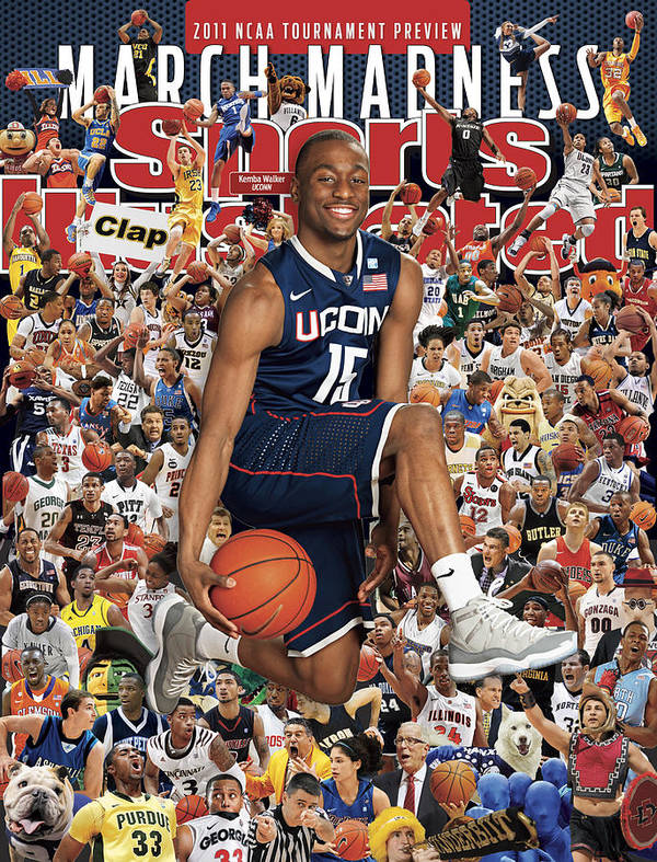 Kemba Walker Art Print featuring the photograph University Of Connecticut Kemba Walker, 2011 March Madness Sports Illustrated Cover by Sports Illustrated
