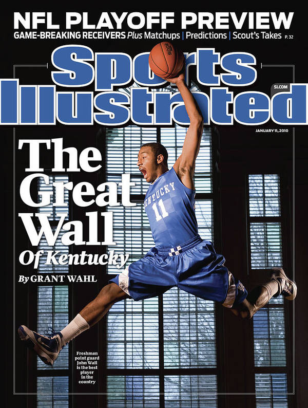Point Guard Art Print featuring the photograph University Of Kentucky John Wall Sports Illustrated Cover by Sports Illustrated