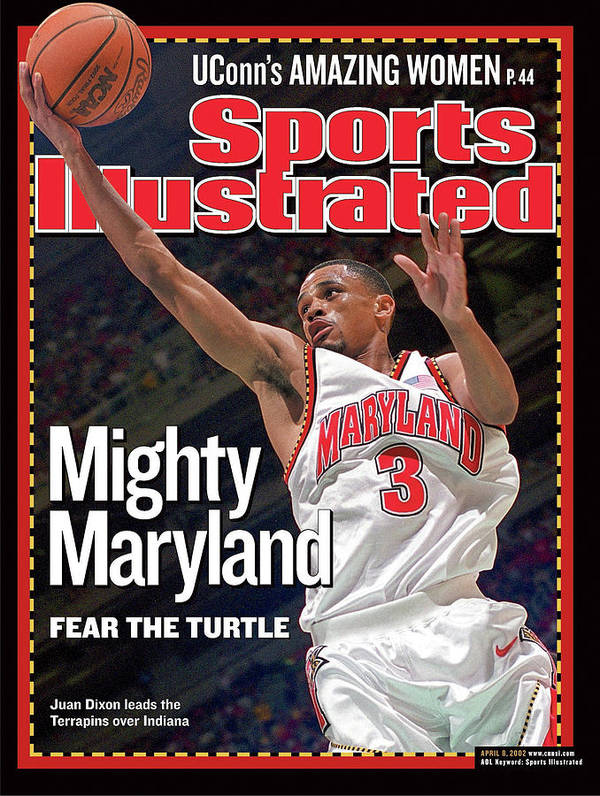 Atlanta Art Print featuring the photograph University Of Maryland Juan Dixon, 2002 Ncaa National Sports Illustrated Cover by Sports Illustrated