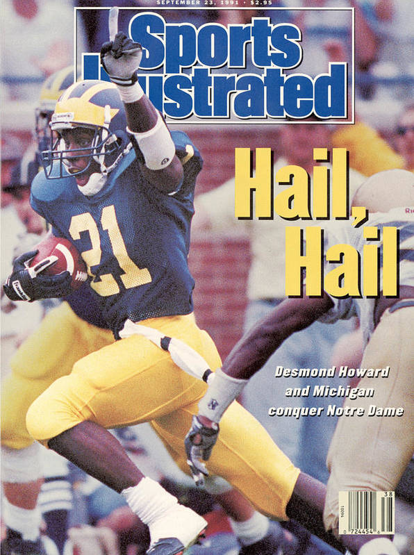 Magazine Cover Art Print featuring the photograph University Of Michigan Desmond Howard Sports Illustrated Cover by Sports Illustrated