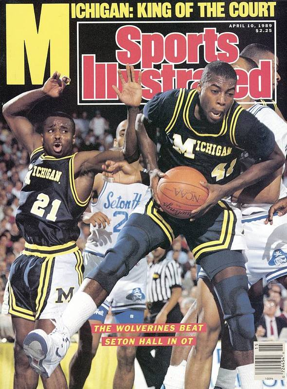 Glen Rice Art Print featuring the photograph University Of Michigan Glen Rice, 1989 Ncaa National Sports Illustrated Cover by Sports Illustrated