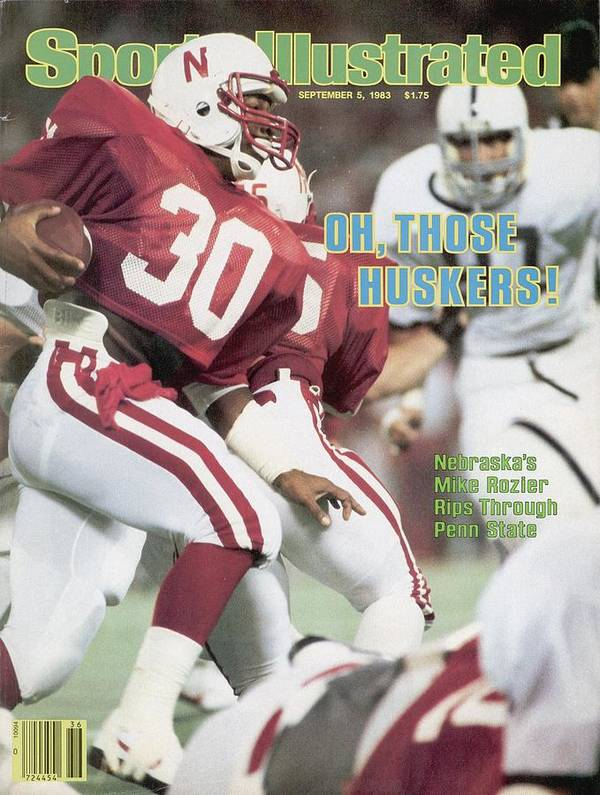 1980-1989 Art Print featuring the photograph University Of Nebraska Mike Rozier, 1983 Kickoff Classic Sports Illustrated Cover by Sports Illustrated