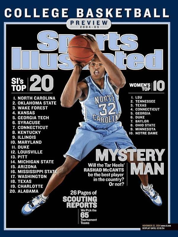 Magazine Cover Art Print featuring the photograph University Of North Carolina Rashad Mccants Sports Illustrated Cover by Sports Illustrated