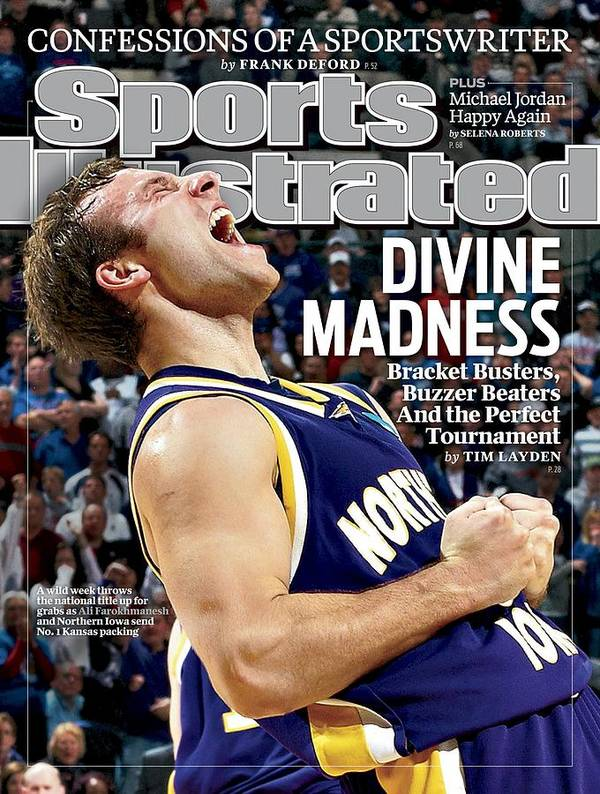 Magazine Cover Art Print featuring the photograph University Of Northern Iowa Ali Farokhmanesh, 2010 Ncaa Sports Illustrated Cover by Sports Illustrated