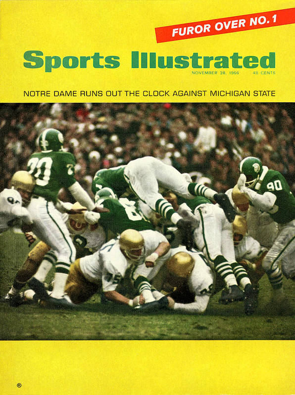 Michigan State University Art Print featuring the photograph University Of Notre Dame Football Sports Illustrated Cover by Sports Illustrated