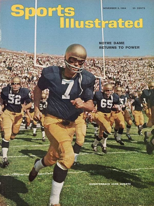 Magazine Cover Art Print featuring the photograph University Of Notre Dame Qb Johnny Huarte Sports Illustrated Cover by Sports Illustrated