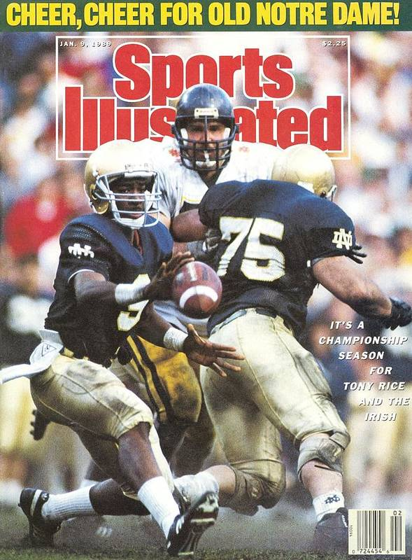 1980-1989 Art Print featuring the photograph University Of Notre Dame Qb Tony Rice, 1989 Fiesta Bowl Sports Illustrated Cover by Sports Illustrated