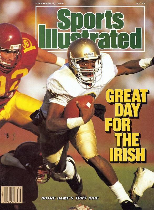 1980-1989 Art Print featuring the photograph University Of Notre Dame Qb Tony Rice Sports Illustrated Cover by Sports Illustrated
