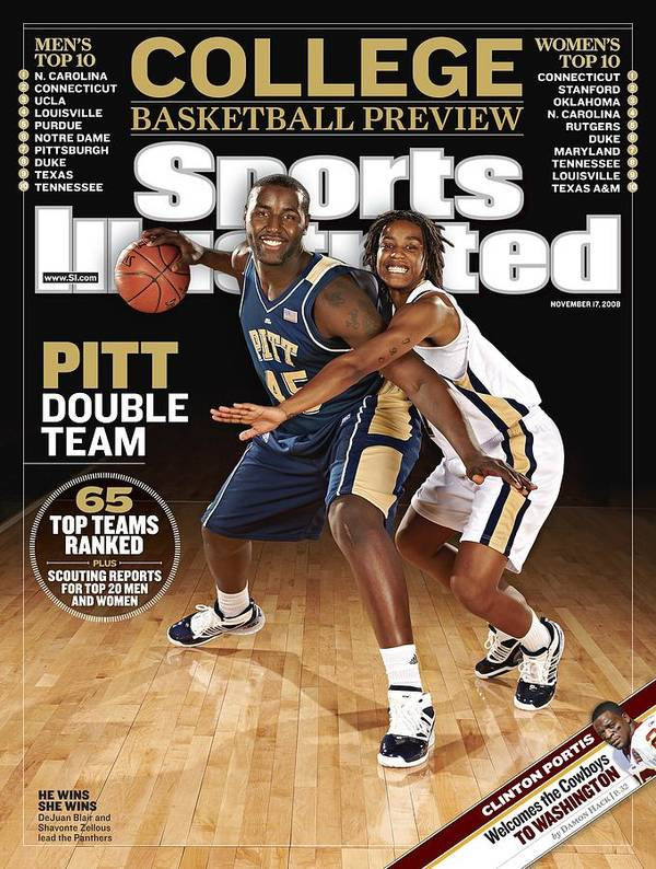 Event Art Print featuring the photograph University Of Pittsburgh Dejuan Blair And Shavonte Zellous Sports Illustrated Cover by Sports Illustrated