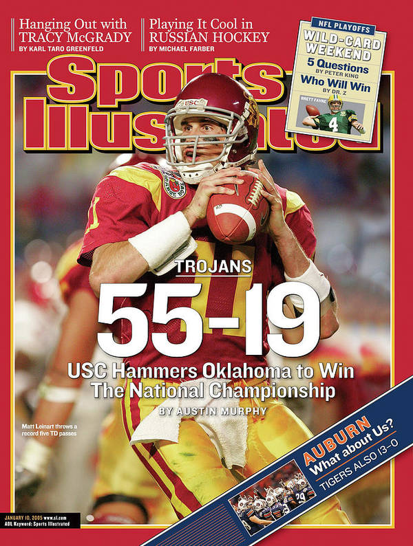 Miami Gardens Art Print featuring the photograph University Of Southern California 2004 Bcs National Sports Illustrated Cover by Sports Illustrated
