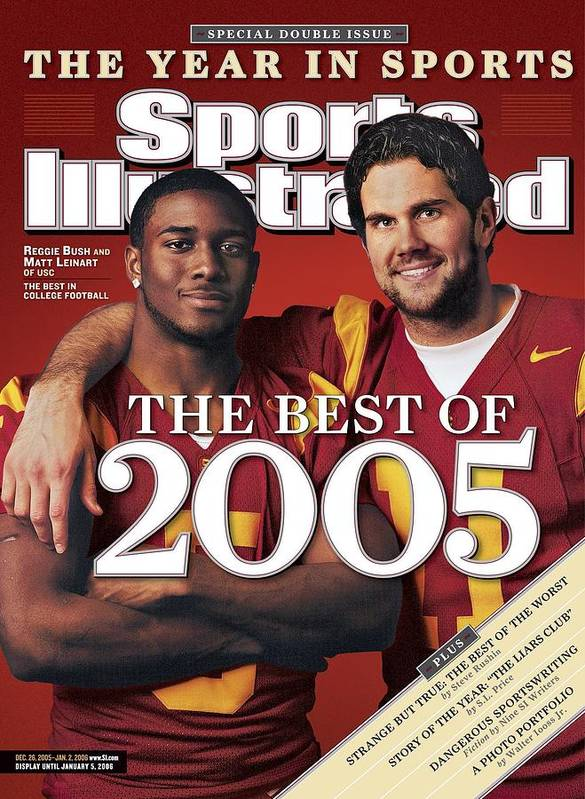 Hotel Art Print featuring the photograph University Of Southern California Qb Matt Leinart And Sports Illustrated Cover by Sports Illustrated