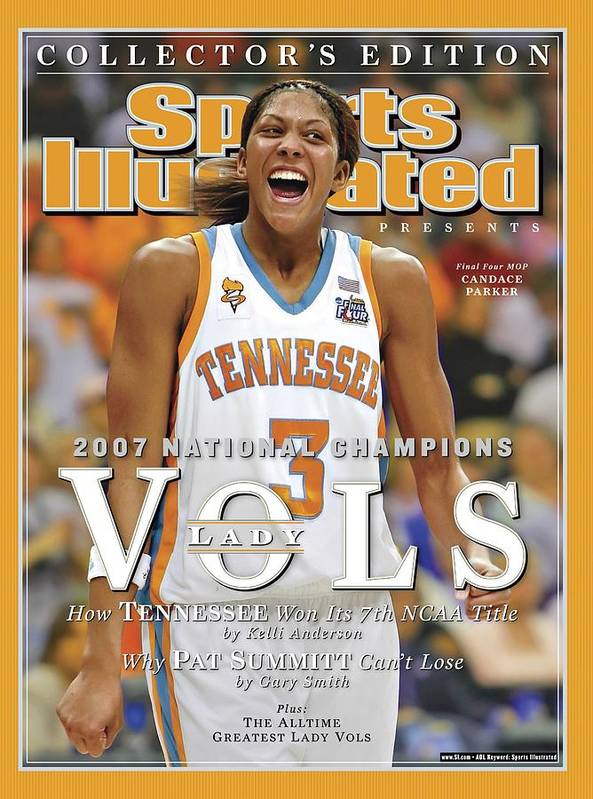 Sports Illustrated Art Print featuring the photograph University Of Tennessee Candace Parker, 2007 Ncaa National Sports Illustrated Cover by Sports Illustrated