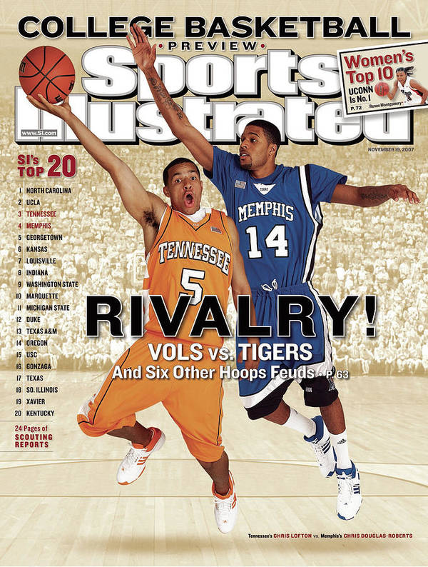 Magazine Cover Art Print featuring the photograph University Of Tennessee Chris Lofton And University Of Sports Illustrated Cover by Sports Illustrated