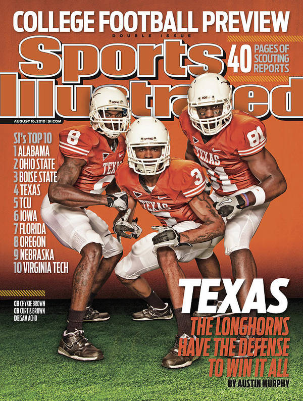 Season Art Print featuring the photograph University Of Texas, 2010 College Football Preview Issue Sports Illustrated Cover by Sports Illustrated