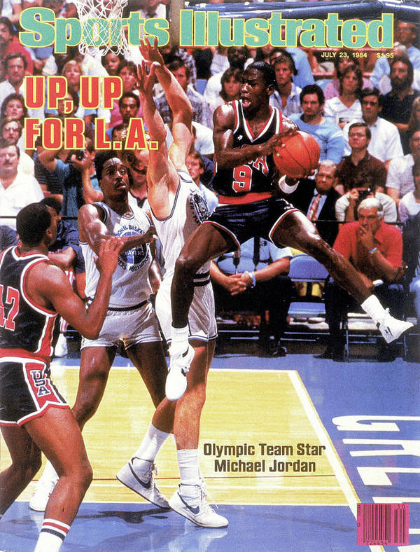 Magazine Cover Art Print featuring the photograph Up, Up For La 1984 Los Angeles Olympic Games Preview Issue Sports Illustrated Cover by Sports Illustrated