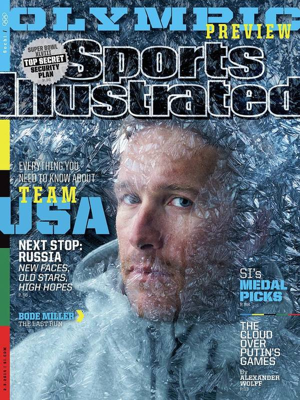 Media Day Art Print featuring the photograph Usa Bode Miller, 2014 Sochi Olympic Games Preview Issue Sports Illustrated Cover by Sports Illustrated
