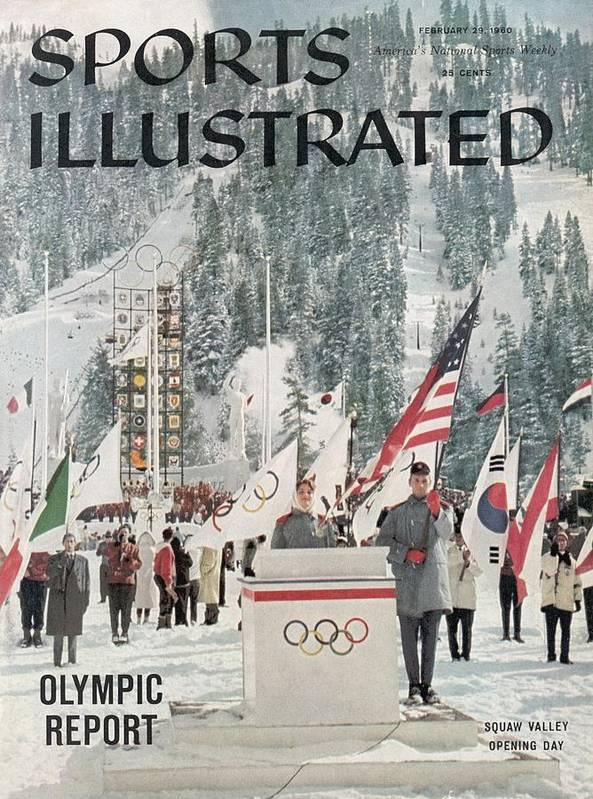 Magazine Cover Art Print featuring the photograph Usa Carol Heiss, 1960 Winter Olympics Sports Illustrated Cover by Sports Illustrated