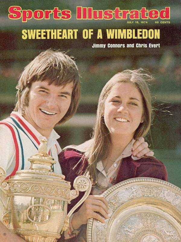 Magazine Cover Art Print featuring the photograph Usa Jimmy Connors And Usa Chris Evert, 1974 Wimbledon Sports Illustrated Cover by Sports Illustrated