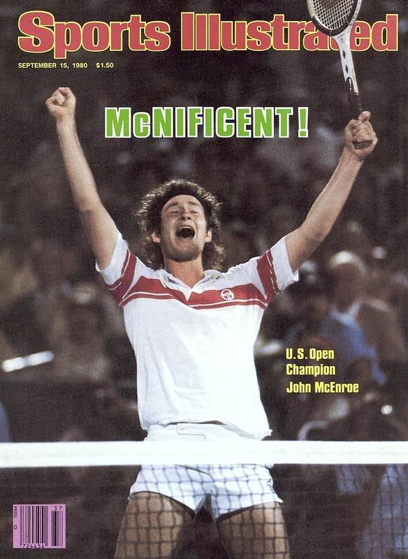 1980-1989 Art Print featuring the photograph Usa John Mcenroe, 1980 Us Open Sports Illustrated Cover by Sports Illustrated