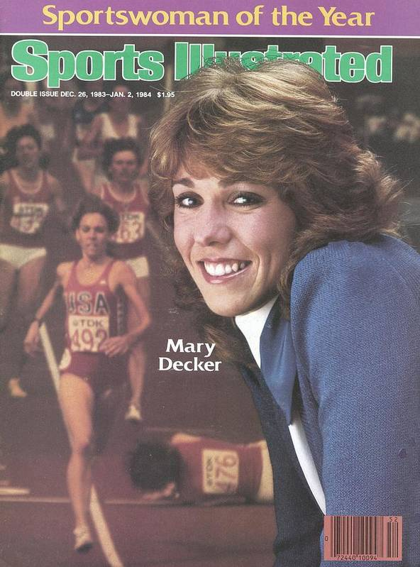 Magazine Cover Art Print featuring the photograph Usa Mary Decker, 1983 Sportswoman Of The Year Sports Illustrated Cover by Sports Illustrated