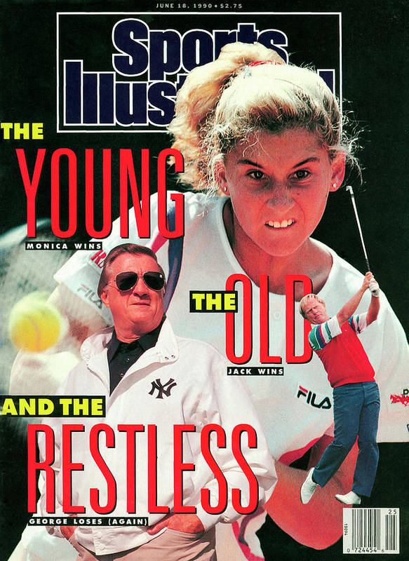 Tennis Art Print featuring the photograph Usa Monica Seles, 1990 French Open Sports Illustrated Cover by Sports Illustrated