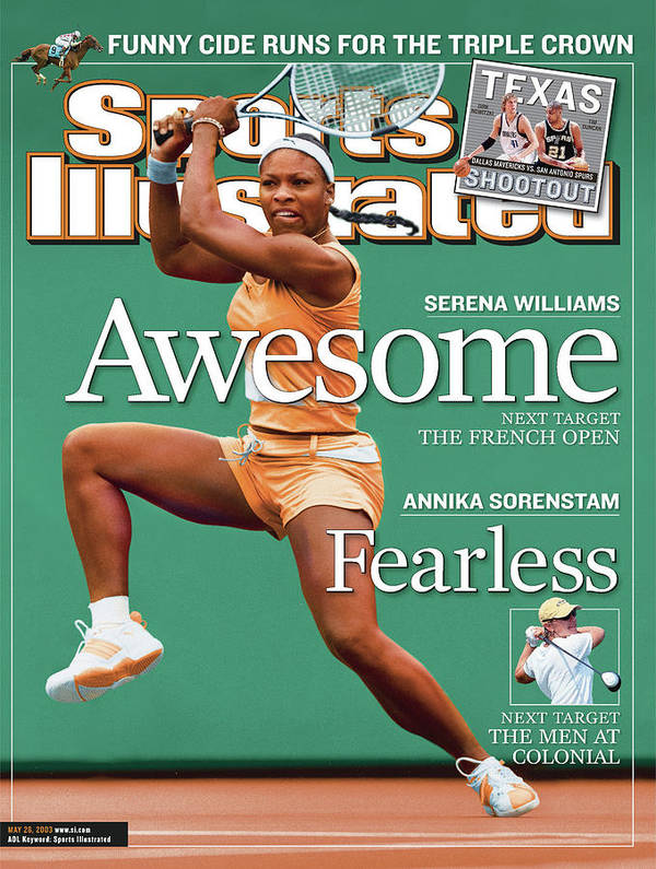 Tennis Art Print featuring the photograph Usa Serena Williams, 2003 State Farm Womens Tennis Classic Sports Illustrated Cover by Sports Illustrated