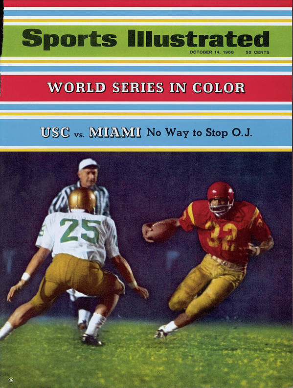 Magazine Cover Art Print featuring the photograph Usc O.j. Simpson Sports Illustrated Cover by Sports Illustrated