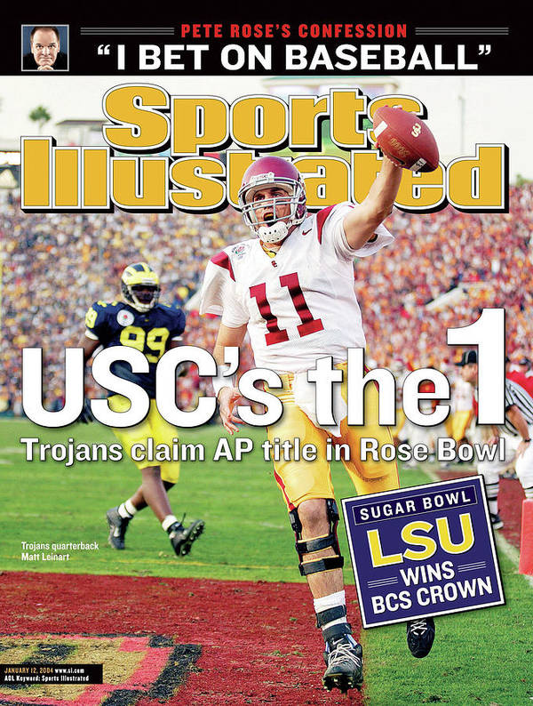 Magazine Cover Art Print featuring the photograph Uscs The 1 Trojans Claim Ap Title In Rose Bowl Sports Illustrated Cover by Sports Illustrated