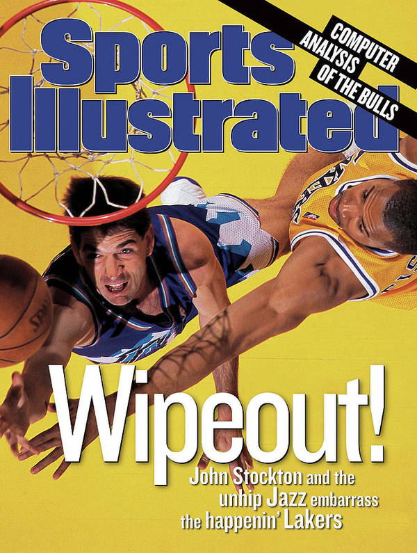 John Stockton Art Print featuring the photograph Utah Jazz John Stockton, 1998 Nba Western Conference Finals Sports Illustrated Cover by Sports Illustrated