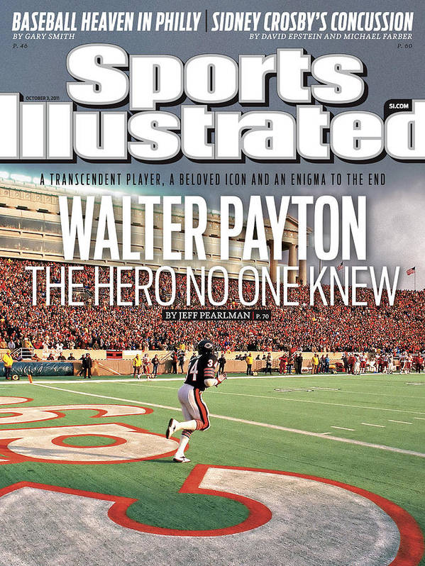 Magazine Cover Art Print featuring the photograph Walter Payton The Hero No One Knew Sports Illustrated Cover by Sports Illustrated