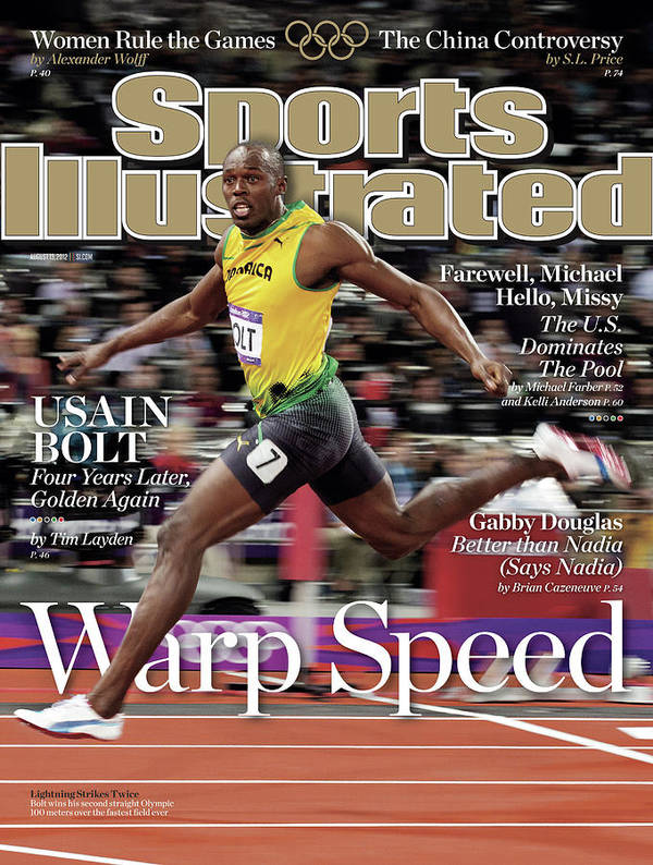 Magazine Cover Art Print featuring the photograph Warp Speed 2012 Summer Olympics Sports Illustrated Cover by Sports Illustrated